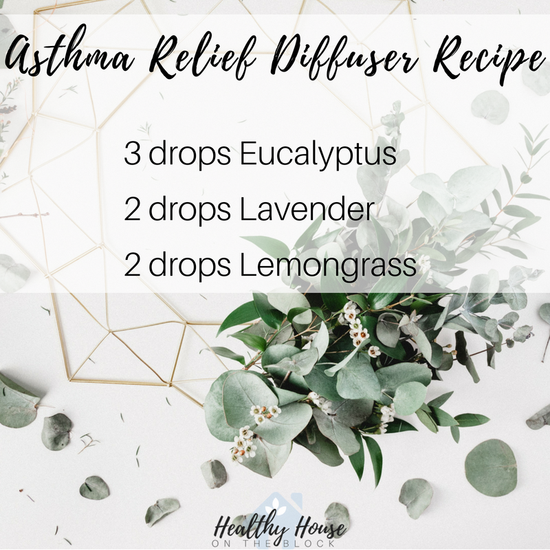 asthma relief diffuser releif with eucalyptus, lavender, lemongrass